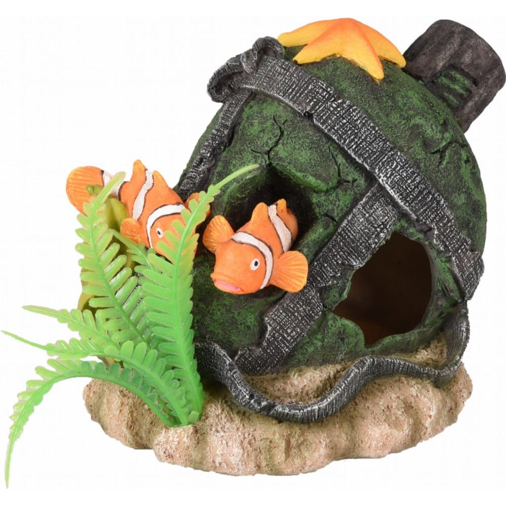 Leto cruche et poisson decoration aquarium Décoration et autre  Flamingo FL-410211