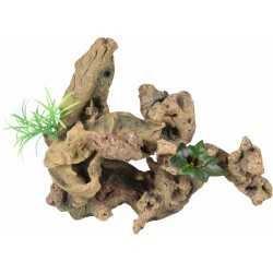 Flamingo Pet Products Root and plant. Size: 30 x 12 x 27 cm. Aquarium decoration. Decoration and other