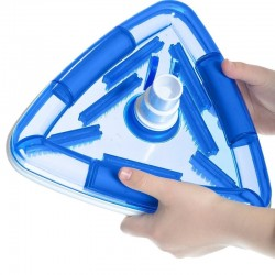 Jardiboutique Triangular vacuum cleaner with brush for swimming pool liner Vacuum cleaner