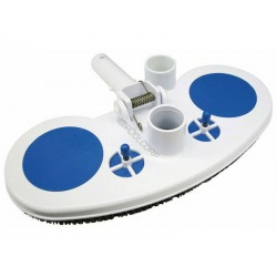 Jardiboutique Manual vacuum cleaner, for swimming pool, half moon shape. Vacuum cleaner
