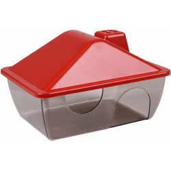 Flamingo Pet Products Hamster house, red. 15 x 11 x 9,5 cm. Beds, hammocks, nesters