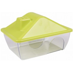 Flamingo Pet Products Hamster house, yellow color. 15 x 11 x 9.5 cm Beds, hammocks, nesters