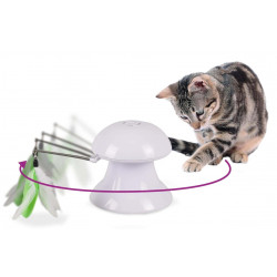Flamingo Pet Products 2 in 1 toy with feather and luminous pointer. for cats. Games