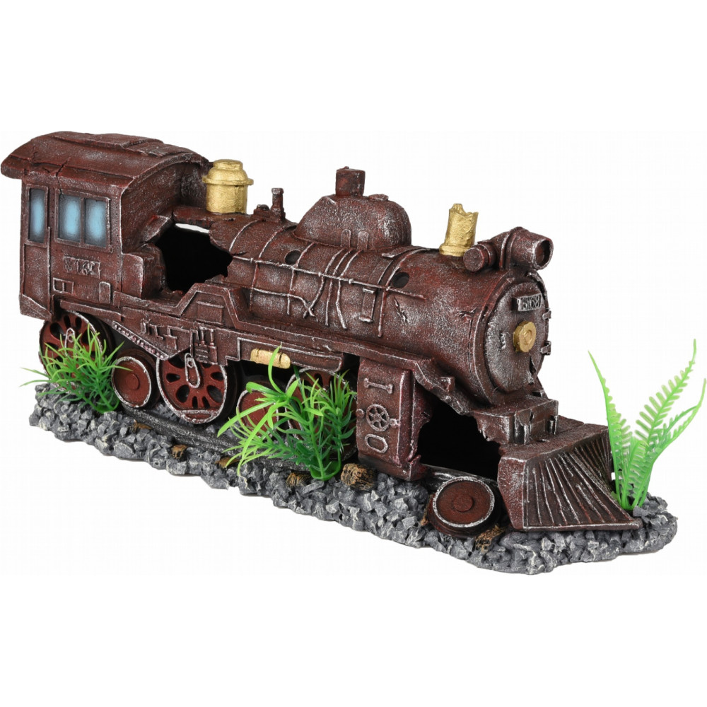 HEKTOR LOCOMOTIVE ROUGE 35 x 10 x 15 cm DECORATION AQUARIUM Décoration et autre  Flamingo FL-410188