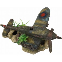 Flamingo FL-410203 plane AZUR, size: 27 x 17 x 13 cm, aquarium decoration. Decoration and other