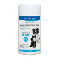 Francodex Multi-purpose cleaning wipes for dogs and cats. Care and hygiene