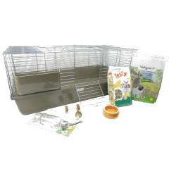animallparadise Kit mon premier rongeur cage et accessoires. pour lapins et rongeurs Cage