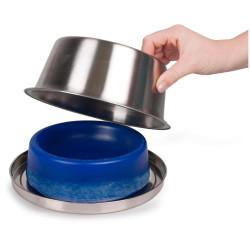Flamingo Pet Products Cooling bowl ø 16 cm. 840 ml. for dog Bowl, bowl, bowl