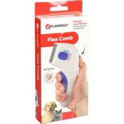Flamingo Pet Products Electronic flea comb Puleks white 17 cm . cat and dog. accessoire, peigne ect