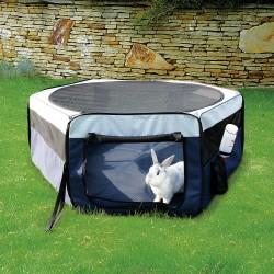Trixie Enclos, polyester ø 90 x 40 cm pour lapins, cochons d'inde TR-64052 Cage