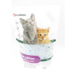 Flamingo Pet Products Einstreu aus Kieselerde . mittleres Granulat. 5.5 Liter Katzenstreu. FL-1030325 Wurf