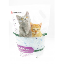 Flamingo Pet Products Silica bedding . medium granules. 5.5 liters. cat litter. Litter