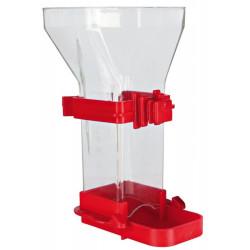 TR-5418 Trixie Dispensador de comida, plástico 150 ml 12 cm, pájaros. Color aleatorio. Comederos, abrevaderos