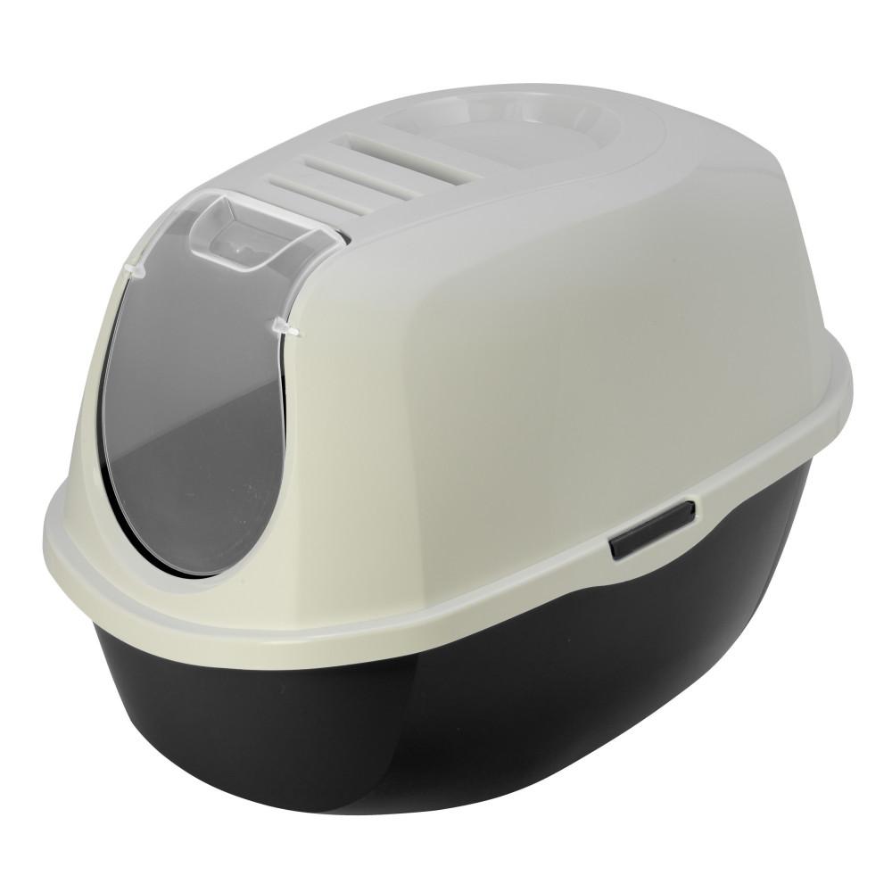 Flamingo Pet Products Plato black and white cat toilet L 39 x 55 x 41 cm Toilet house