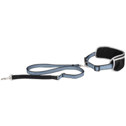 Flamingo Pet Products RONO jogging leash and belt. blue. for dog. Canicross