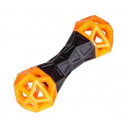 Vadigran Haltère TPR orange fun 18 cm . jouet pour chien. Jouet pour chien