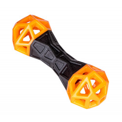 Vadigran Dumbbell TPR orange fun 18 cm . dog toy. Jeux