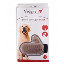 Vadigran Brushing and care glove 24 cm . for dogs Gants et rouleaux de toilettage