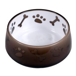 Vadigran Melamine bowl Paw and bone brown . 550 ml. dog. Bowl, bowl, bowl