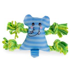 VA-14340 Vadigran Mini elefante de felpa de 17 cm. juguete para perros. Peluche pour chien