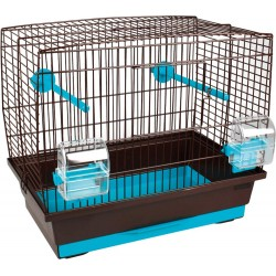 "Flamingo Cage oiseau ""buru"" brun -turquoise 40 x 25 cm H 35 cm FL-107692 Gabbie, voliere, cassette nido"