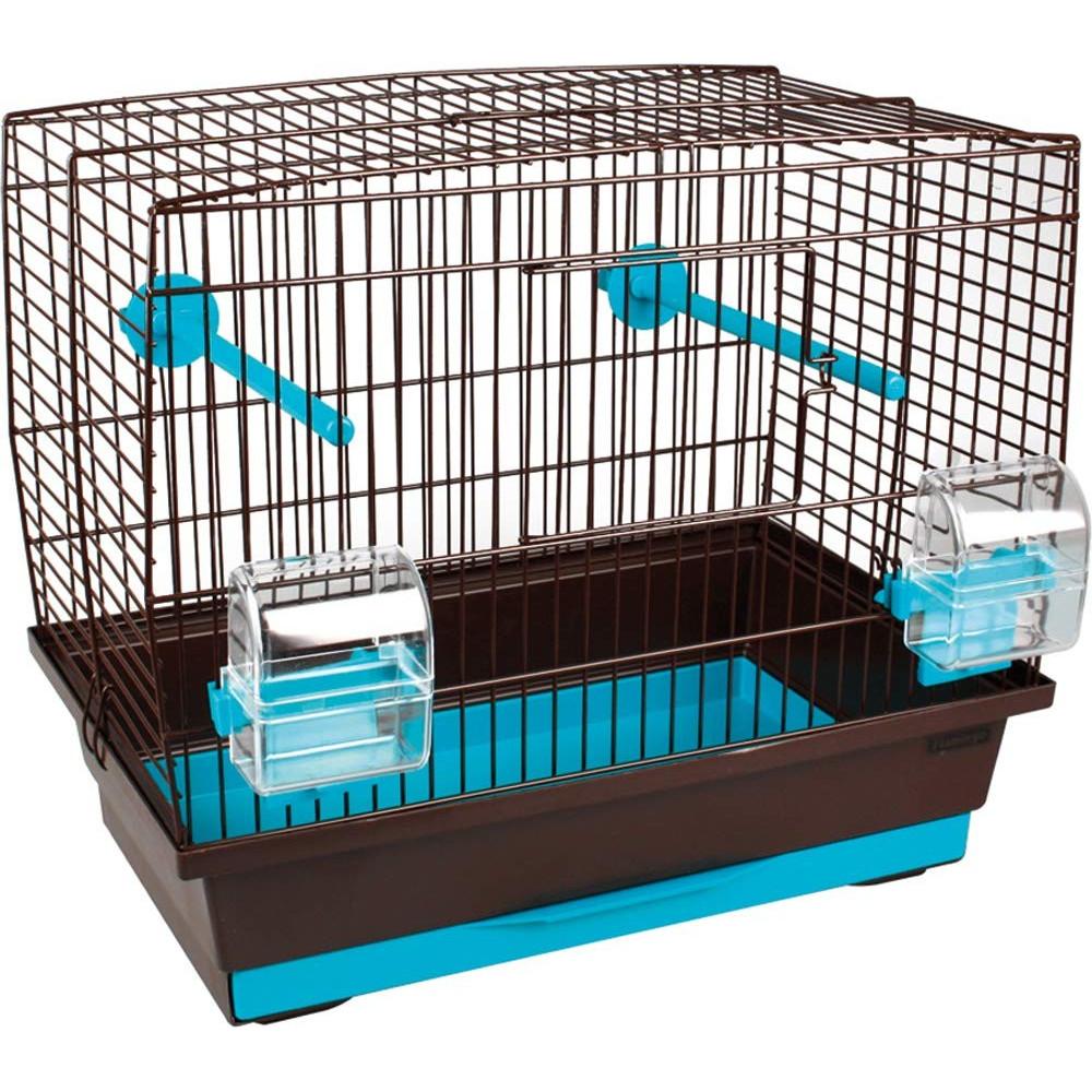 """Cage oiseau """"buru"""" brun -turquoise 40 x 25 cm H 35 cm Cages, volières, nichoir Flamingo FL-107692"""