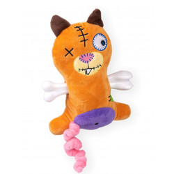 Vadigran Scary squirrel plush with bone 17.5 cm. Dog toy. Peluche pour chien