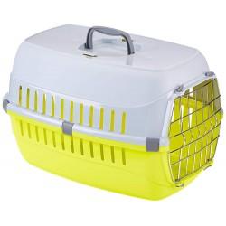 FL-506221 Flamingo Cage de transport pour chien ou chat, taille: 37 x 55 x H 35 cm - couleur aléatoire. Jaula de transporte