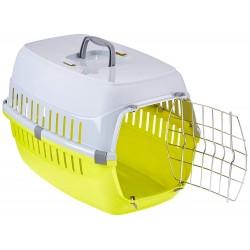 FL-506221 Flamingo Jaula de transporte para perro o gato, tamaño: 37 x 55 x H 35 cm - color aleatorio. Jaula de transporte