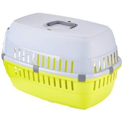 Flamingo FL-506221 Cage de transport pour chien ou chat, taille: 37 x 55 x H 35 cm - couleur aléatoire. Transport cage