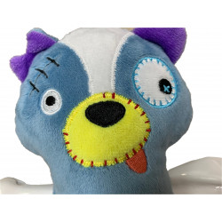Vadigran Scary skunk plush with bone 17.5 cm. Dog toy. Peluche pour chien