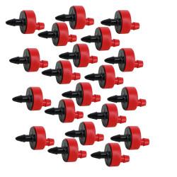 Jardiboutique Set of 20 Rain Bird drippers, self-regulating / self-piercing red - 8l/h Goutte a goutte