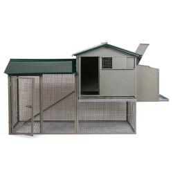 Vadigran Poulailler galvanisé Colombus vert. 180 x 70 x 110 cm. pour poules Accessory