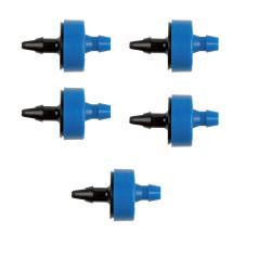 Jardiboutique Set of 5 Self-regulating RAIN BIRD XB XB 2L/H Droppers Blue Goutte a goutte