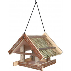 Trixie Natural wood bird feeder with roof extension Outdoor feeders