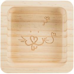 TR-60759 Trixie Tazón de madera de 190 ml. 11 x 11 cm. para roedores. Tazones, distribuidores