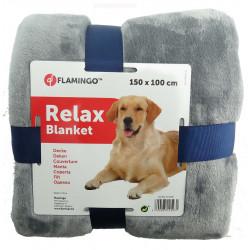 Flamingo Pet Products Cover 150 x 100 cm. for dog. color grey couverture chien