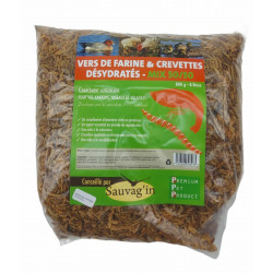Sauvag'in vers de farine et crevettes déshydratéées 8 litres- complement alimentaire. Food and drink