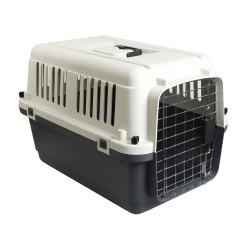 FL-513771 Flamingo Cage de transport chien, Nomad,couleur grise et noir, taille S 40 par 61 et 41 cm Jaula de transporte