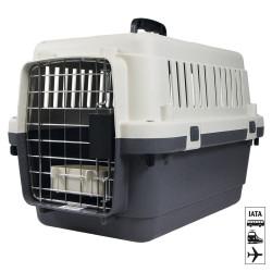 Cage de transport Nomad grise S 40 x 61 x 41 cm Transport Flamingo FL-513771
