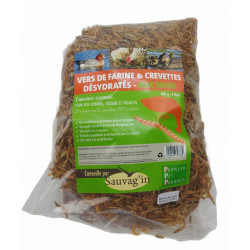 Sauvag'in mealworms and dehydrated shrimps 4 litres - food supplement Food and drink
