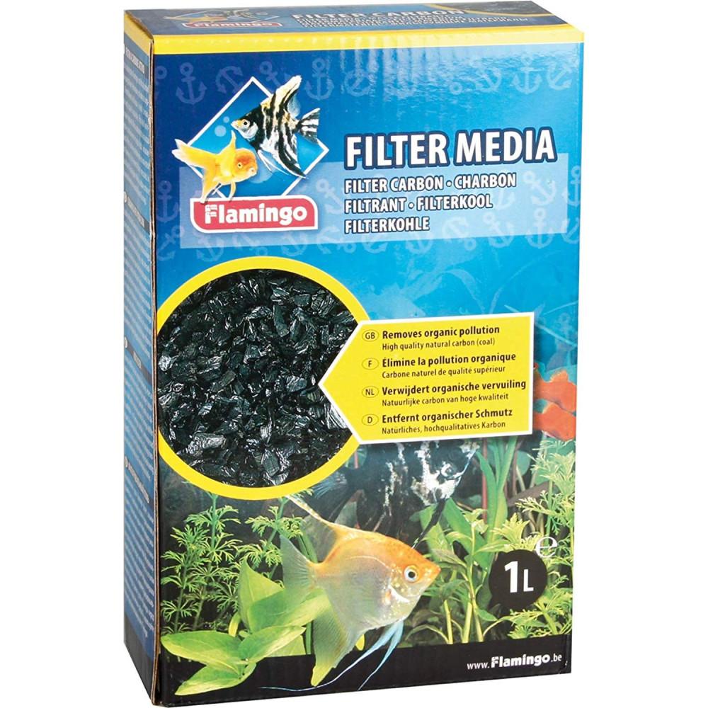 Charbon filtrant 450 g aquarium Masses filtrantes, accessoires Flamingo FL-400383