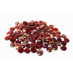 Flat red crystal beads ø 6 x 16 mm bag of 250 gr - aquarium Decoration and other Flamingo FL-400727