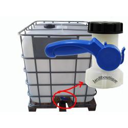 "Jardiboutique Valve for IBC 1000 litres 2"" / 60 mm ibc tank"