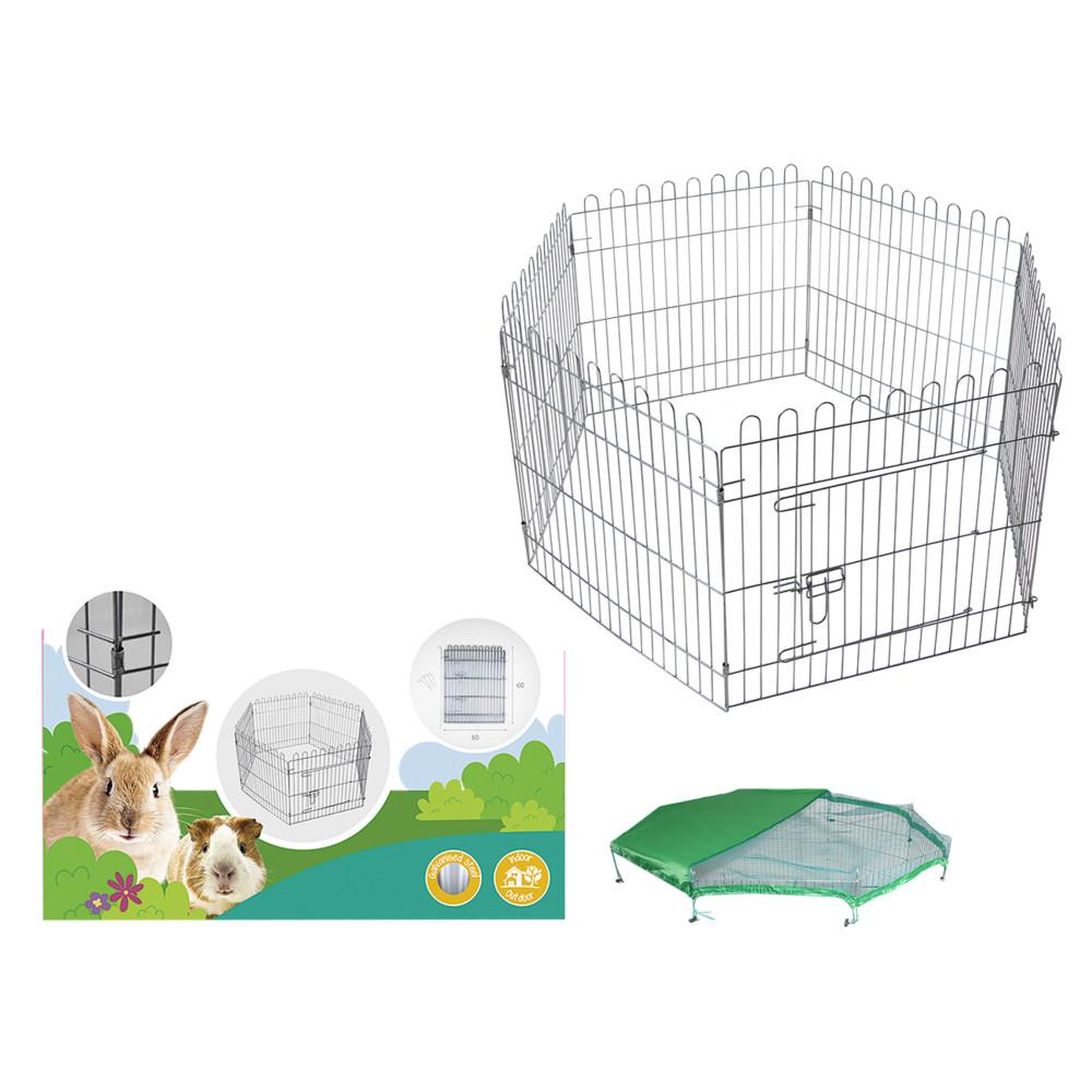 Vadigran Hexagonal playpen with net 60 x 60 cm . for puppy and rabbit. Enclos pour chien
