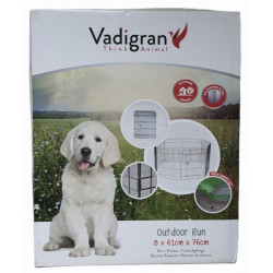 Vadigran Hexagonal playpen with net 76 x 61 cm. for puppies and large rodents. Enclos pour chien