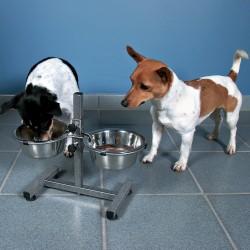 Bar 2 × 0,75 L ø 15 cm H 27 cm max. pour chiens Gamelle, écuelle surélevée Trixie TR-24920