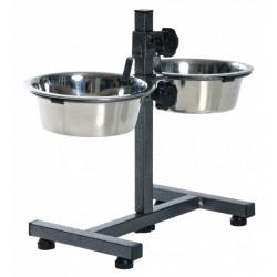 Trixie TR-24921 Bar, 2 × 1.8 W ø 20 cm H 40 cm, max for dogs Bowl, raised bowl