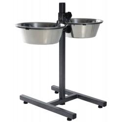 Trixie TR-24922 Bar, 2 × 2.8 W ø 24 cm H 50 cm max. for dogs Bowl, raised bowl