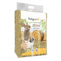 Vadigran Straw litter 150 litres 5 kg. for rodents. Litière rongeur